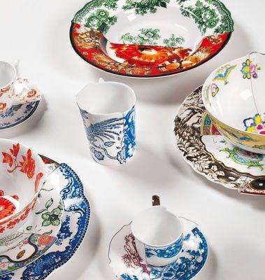 Seletti Hybrid Ipazia Plate Multicoloured Made In Design Uk Tableware Plates Dinnerware
