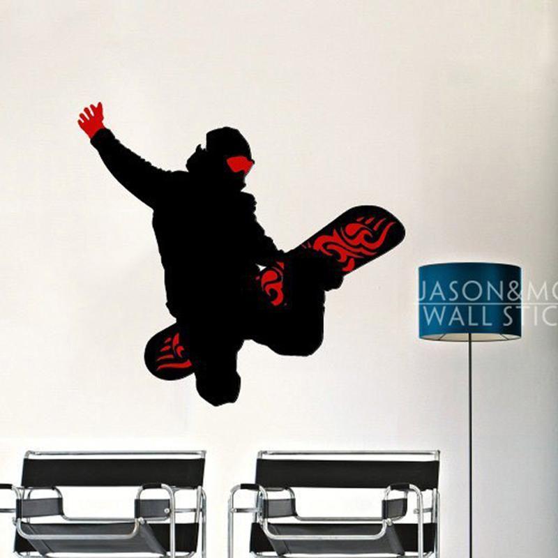 Best Cool Skateboard Snowboard Sports Man Art Wall Sticker 400 x 300