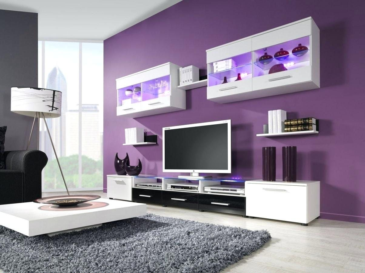 Purple Grey And White Living Room  Living room wall color, Purple