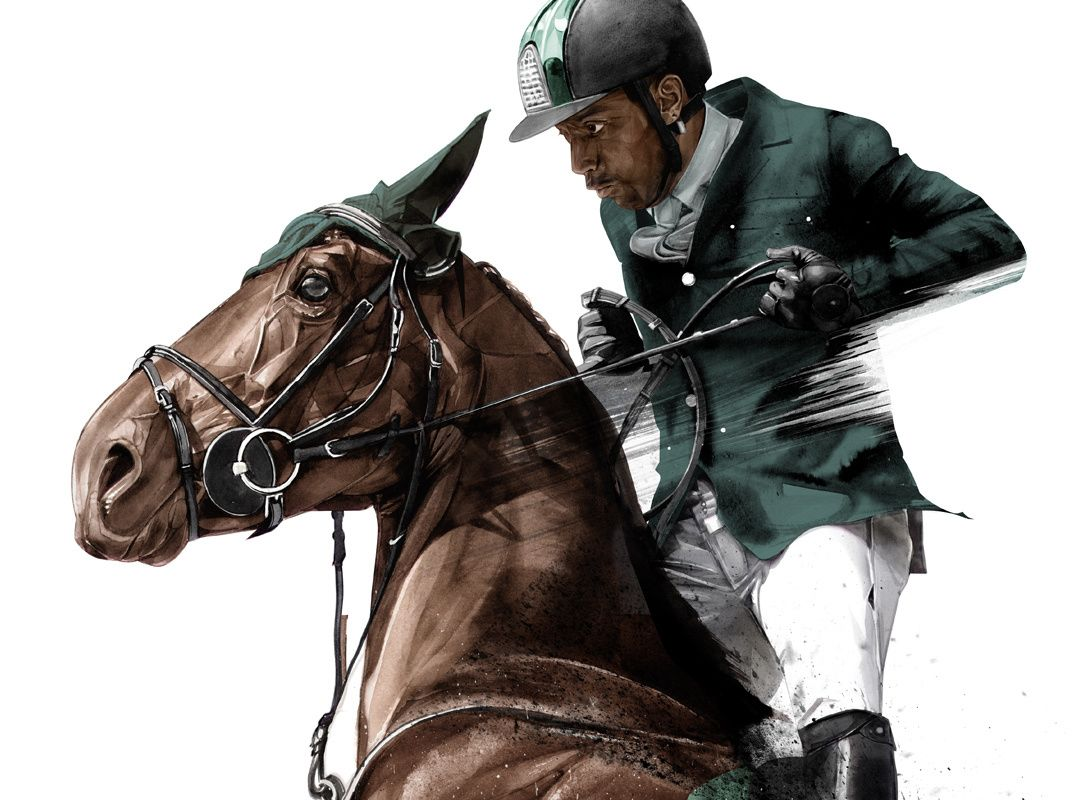 Image result for Portrait of Olympian show jumper Kamal Bahamdan