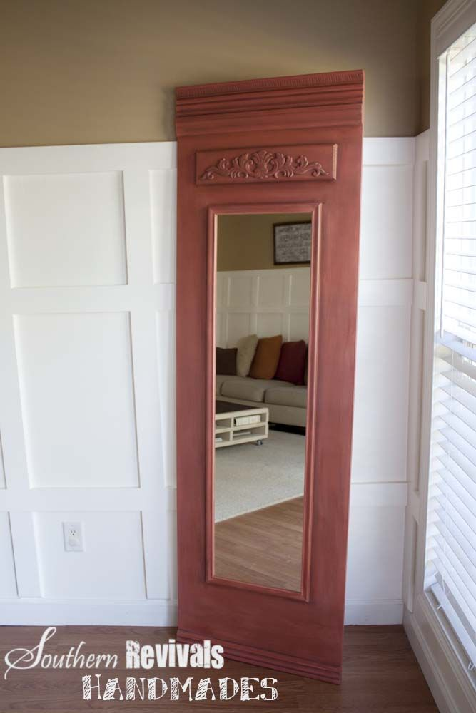 Standard Mirror Transformed With Trim Pieces And Some Paint.