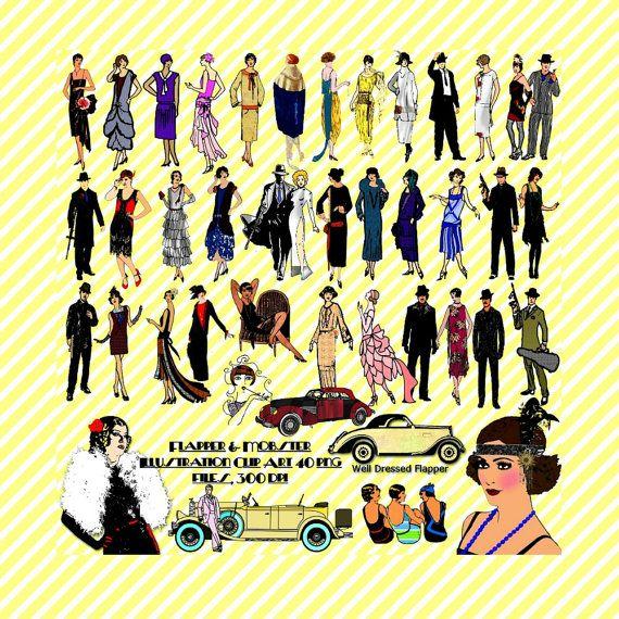 Roaring 20er Jahre Art Deco Flapper Gangster von TbLSimplyDigital ...