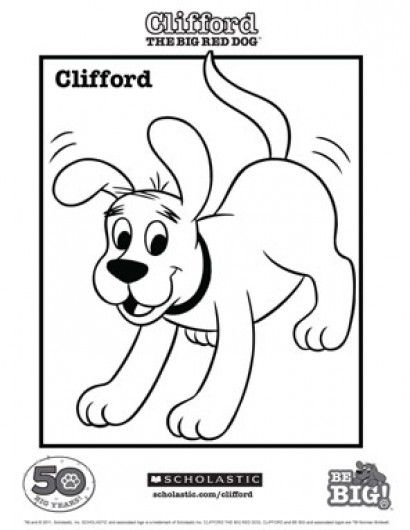 Clifford Coloring Sheet Coloring Pages Coloring Sheets Dog Coloring Page