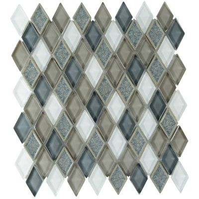 Nantucket 3 X 6 Ceramic Subway Tile In Gloss Ice White Mosaic Glass Mosaic Tiles Glass Mosaic Tiles