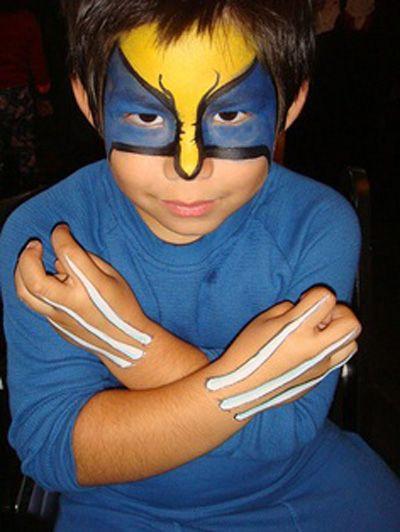 Célèbre Trucco del viso per Carnevale per bambini da Wolverine | Creazioni  PD23
