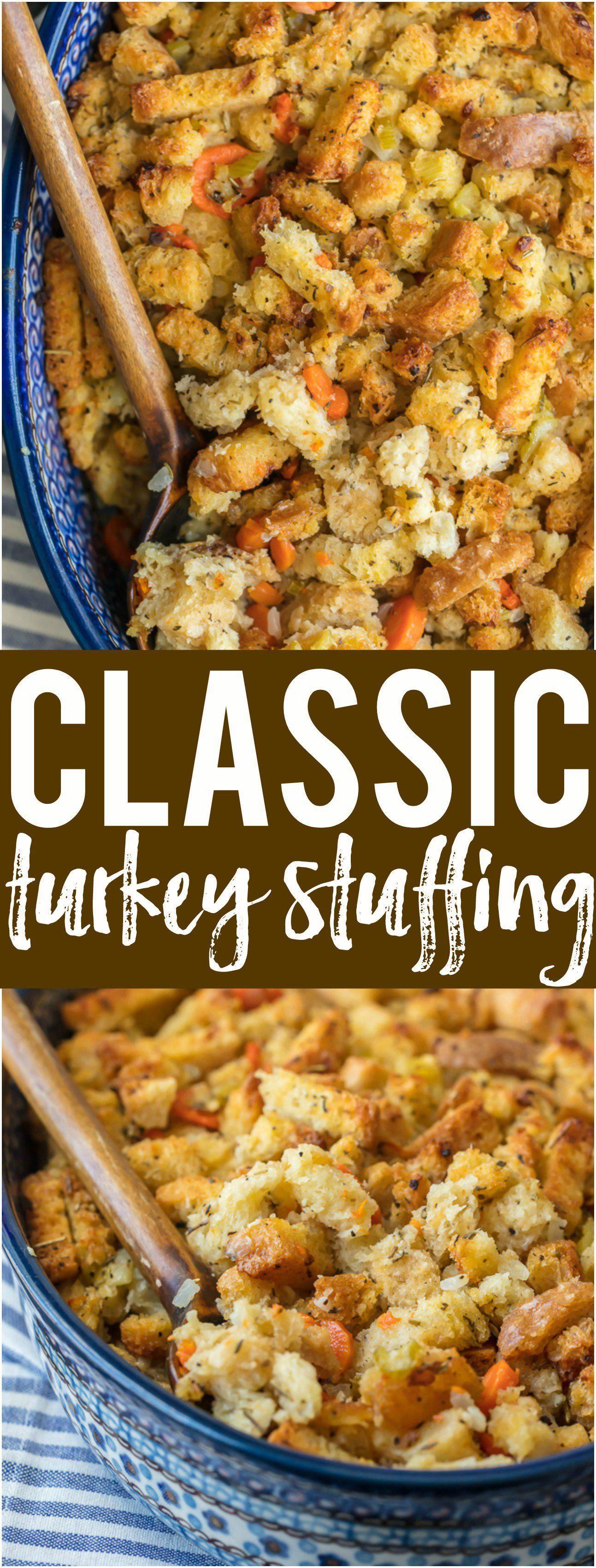 Classic Turkey Stuffing Turkey stuffing recipes