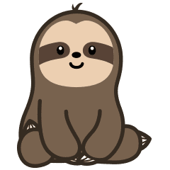 Check Out The Cutey Sloth Sticker By Stycker On Chatsticker Com Cute Cartoon Drawings Sloth Drawing Cartoon Drawings Of Animals