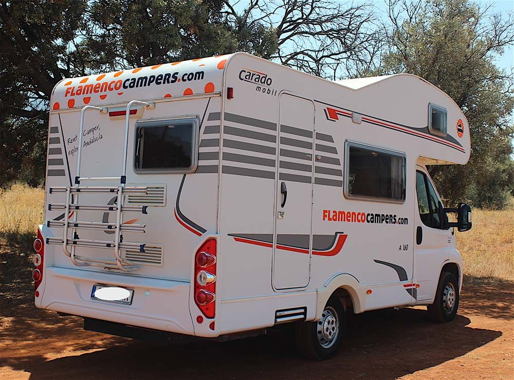 9127a5d9d8 This is Macarena - one of our Flamenco Campers. This Fiat Carado Mobil A-