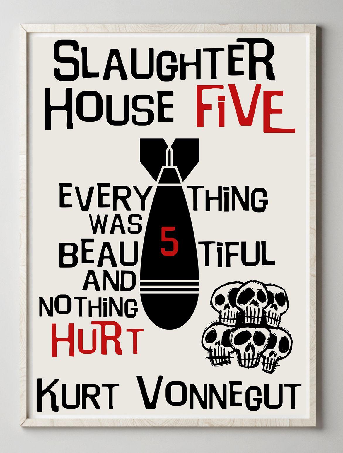 poster kurt vonnegut etsy book art