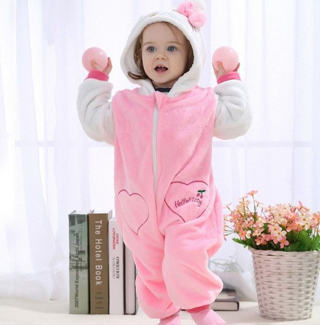 9237af8b5 Blue Stitch baby rompers boy girl Hello kitty Cartoon Jumpsuit ...