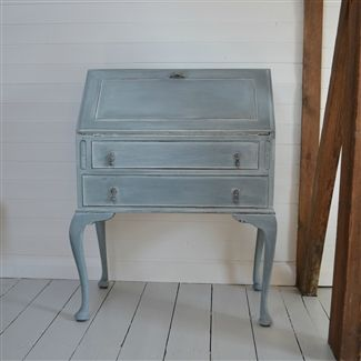 Painted Vintage Bureau with Cabriole Legs West Egg Online