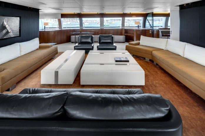 The Vertigo 220' Superyacht Has A Sophisticated Interior Designed by Christian Liaigre.