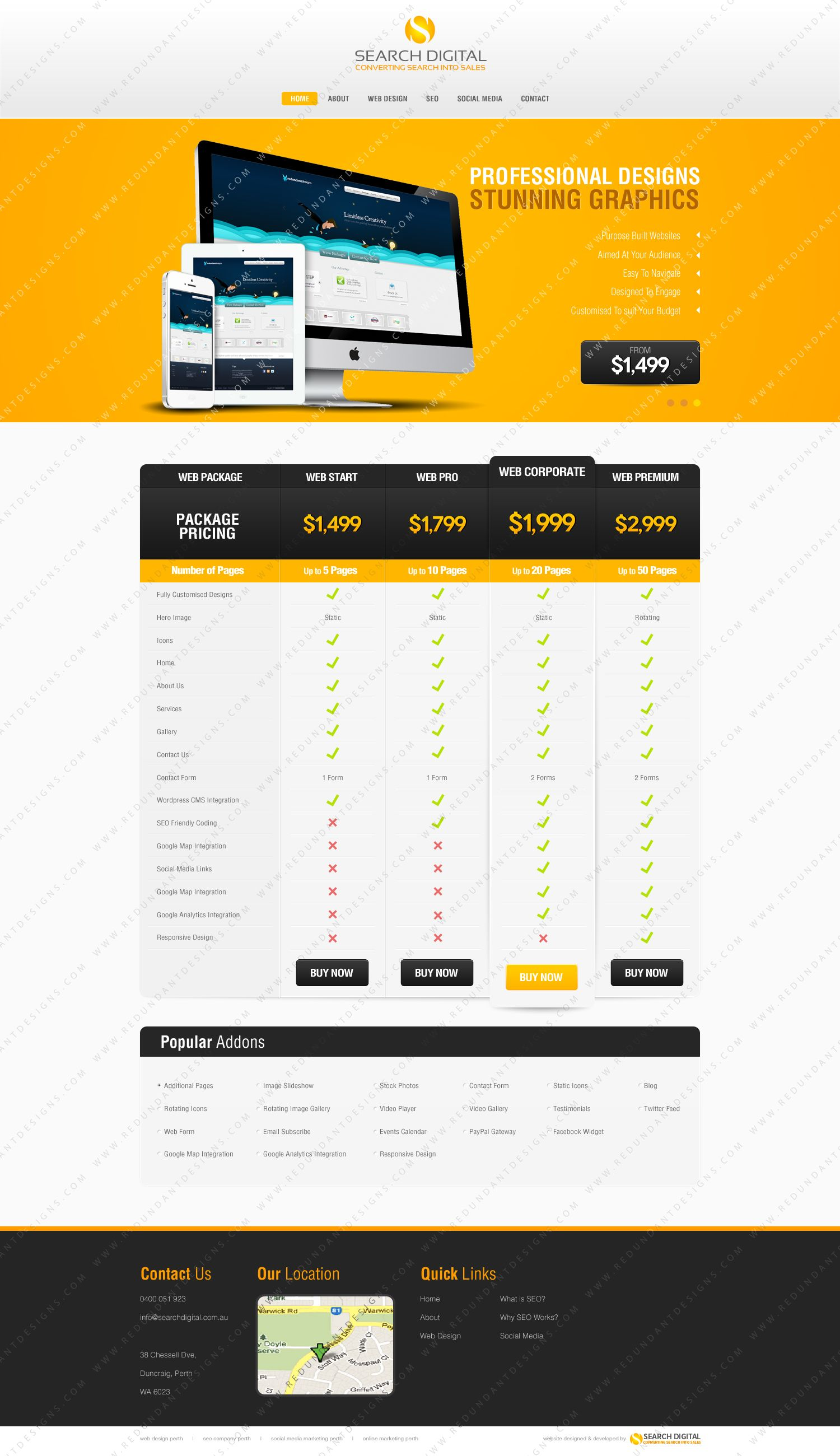 Web Design Packages Www Searchdigital Com Au Web Design Web Design Packages Design