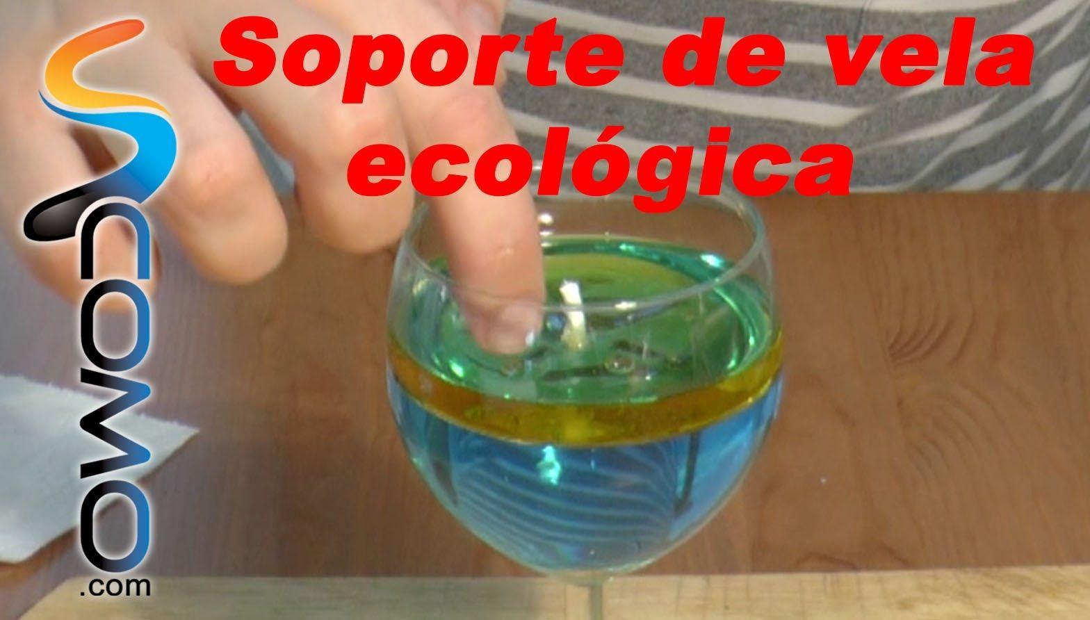 Vela de aceite y agua de colores reciclaje ecológico