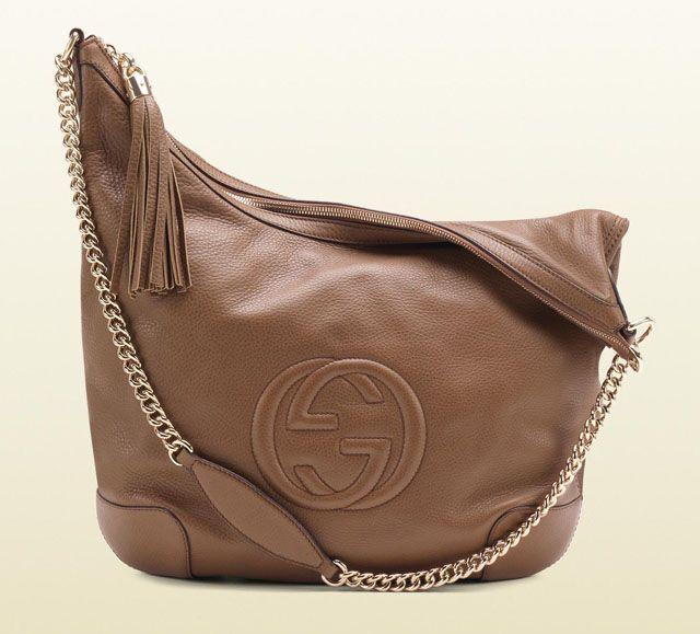 ef4342accfa Gucci Soho Leather Shoulder Bag - Maple Brown