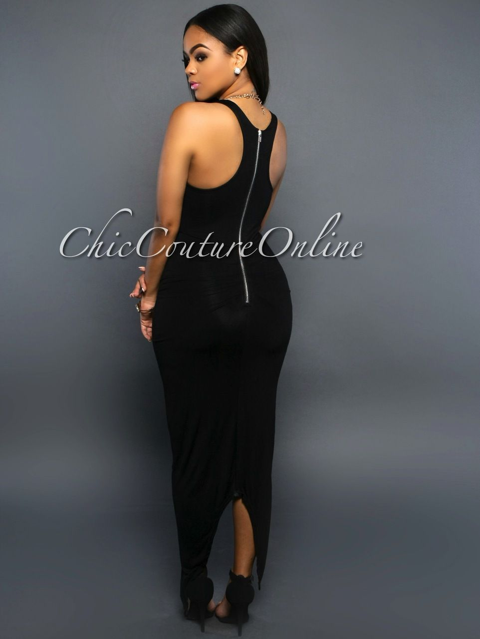 Chic Couture Online - Claudia Black Knotted Front Maxi Dress,  (http://www.chiccoutureonline.com/claudia-black-knotted-front-maxi-dress/)