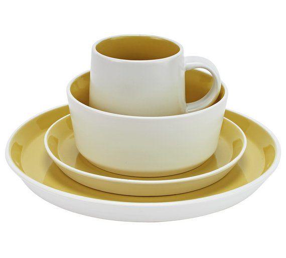 Charmant Buy Hygena Taper 16 Piece Stoneware Dinner Set   Yellow At Argos.co.uk