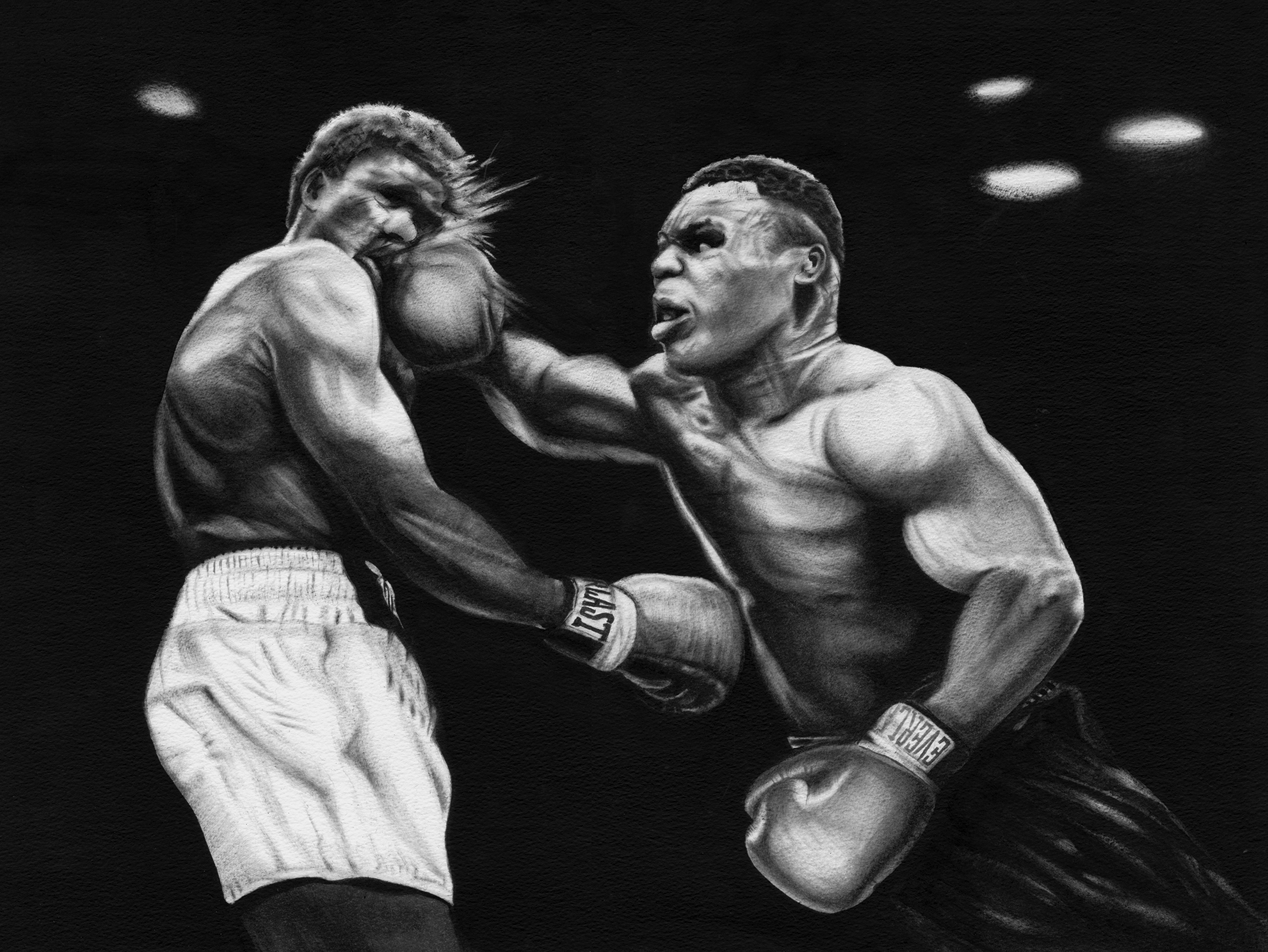 cf6641276 Tyson vs Tillis, oil paint on watercolour paper | portraits | Mike ...