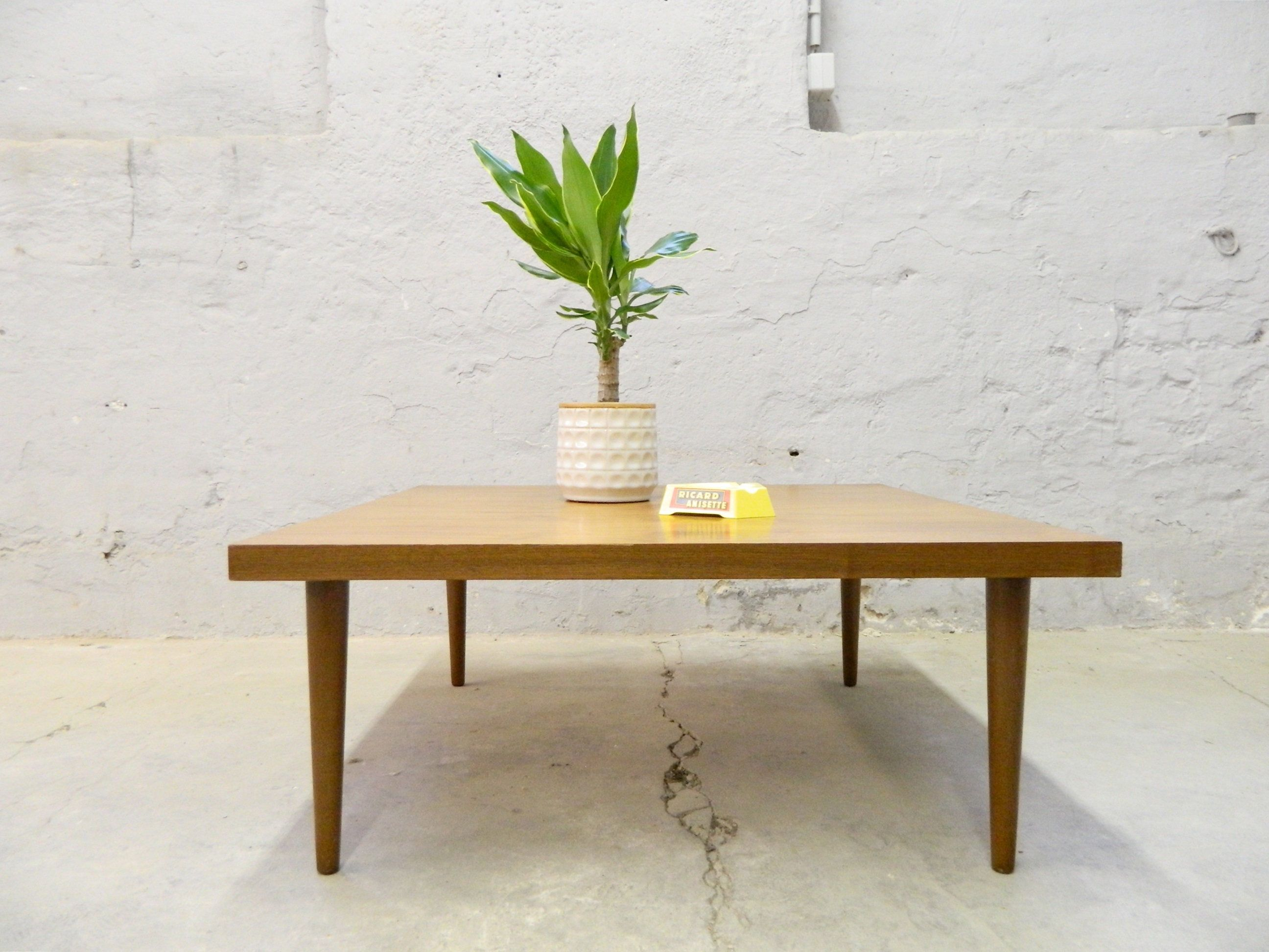Sixties Coffee Table Living Room Table Table Wood Vintage Sofa Table Coffee Table 60 Wooden - The Wood Times Couchtisch