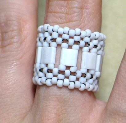 Beaded Ring Beading Kit Tila Bead Right Angle Weave Materials Included