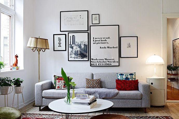 Bilder, Kök matplats, Matta, Tavla, Soffa Hemnet Inspiration Living room Pinterest