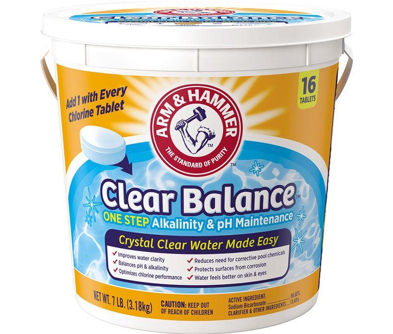 Clear balance pool maintenance tablets baking soda