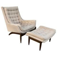 Miraculous Adrian Pearsall High Back Lounge Chair And Ottoman Living Camellatalisay Diy Chair Ideas Camellatalisaycom
