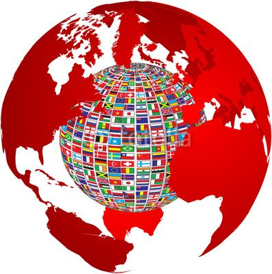 Transparency world map with country flags on it fun combo of maps transparency world map with country flags on it fun combo of maps globes and flags gumiabroncs Images