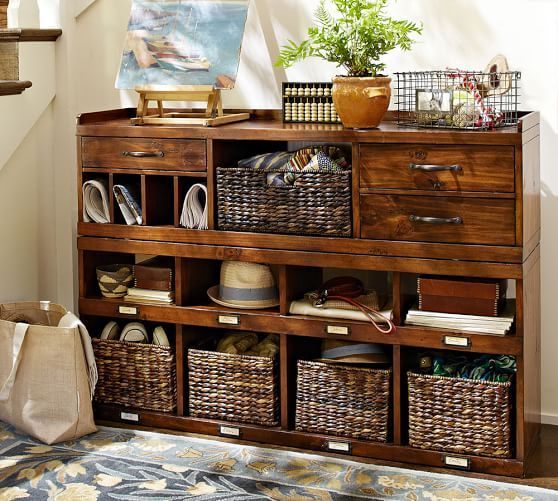 Olivia 2 Piece Organizer Console Set Entryway Furniture
