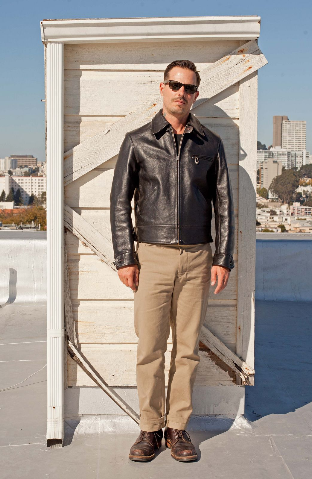 Real McCoy's leather jacket Blue Blanket chinos White's SD ...