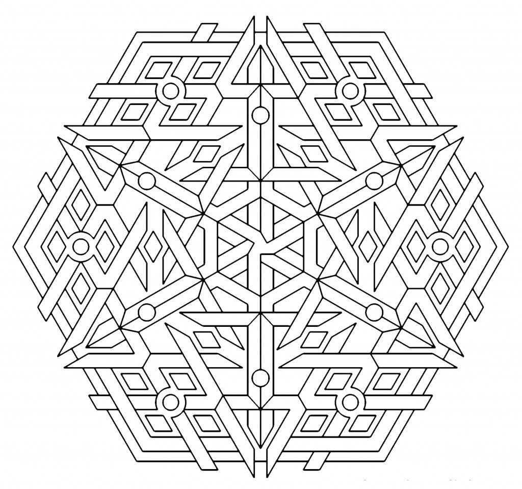 Free Printable Geometric Coloring Pages For Kids With