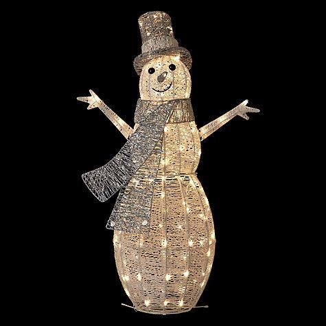 Outdoor Snowman Lights Buy john lewis pre lit snowman light silverwhite online at buy john lewis pre lit snowman light silverwhite online at johnlewis workwithnaturefo