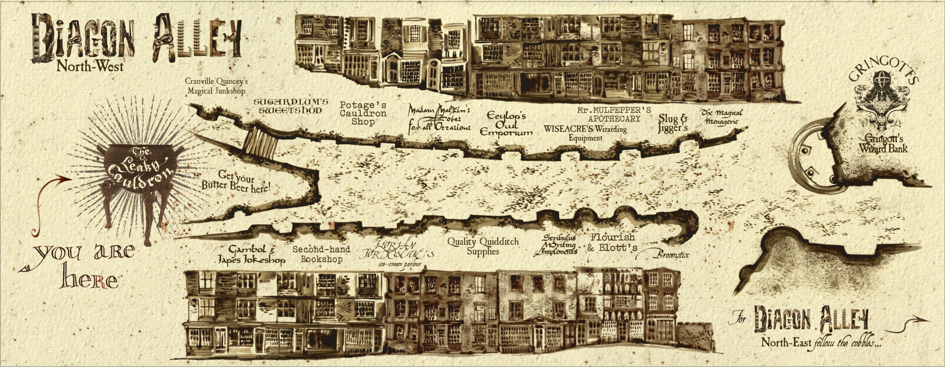 Designing Diagon Alley - Pottermore | Diagon alley, Harry ... on iowa county map, j.k. rowling map, ministry of magic map, wizard map, harry potter alley map, charing cross galloway street map, oklahoma tornado alley map, chamber of secrets map, hogwarts map, home map,
