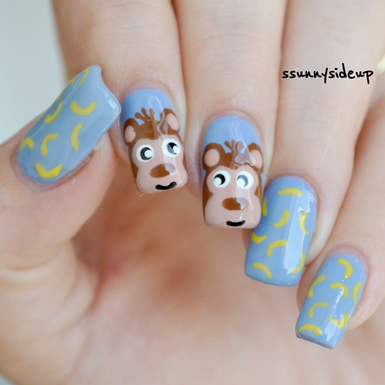ssunnysideup: Monkey nails with kiko, china glaze and essence ...