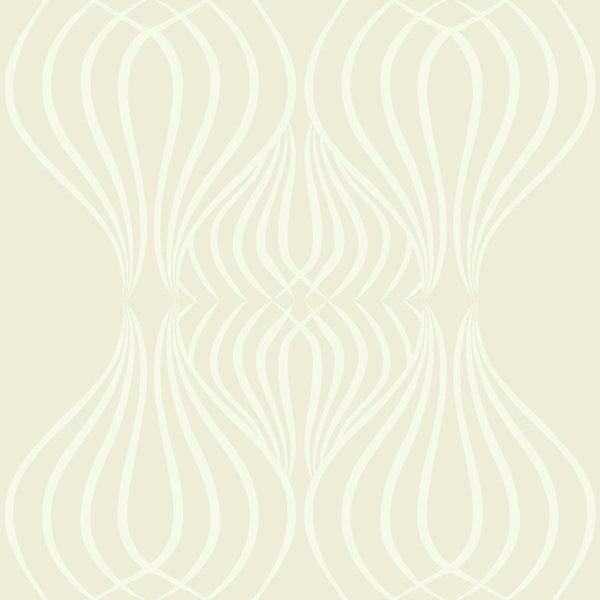 Dbl Roll Pearl on White Geometric. Wallpaper THIBAUT BRAD T-11036