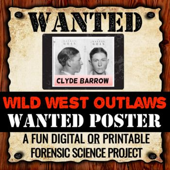 Wild West Outlaw Project - Wanted Poster (Digital and Printable - printable wanted posters