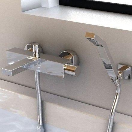 robinet mitigeur de baignoire mural