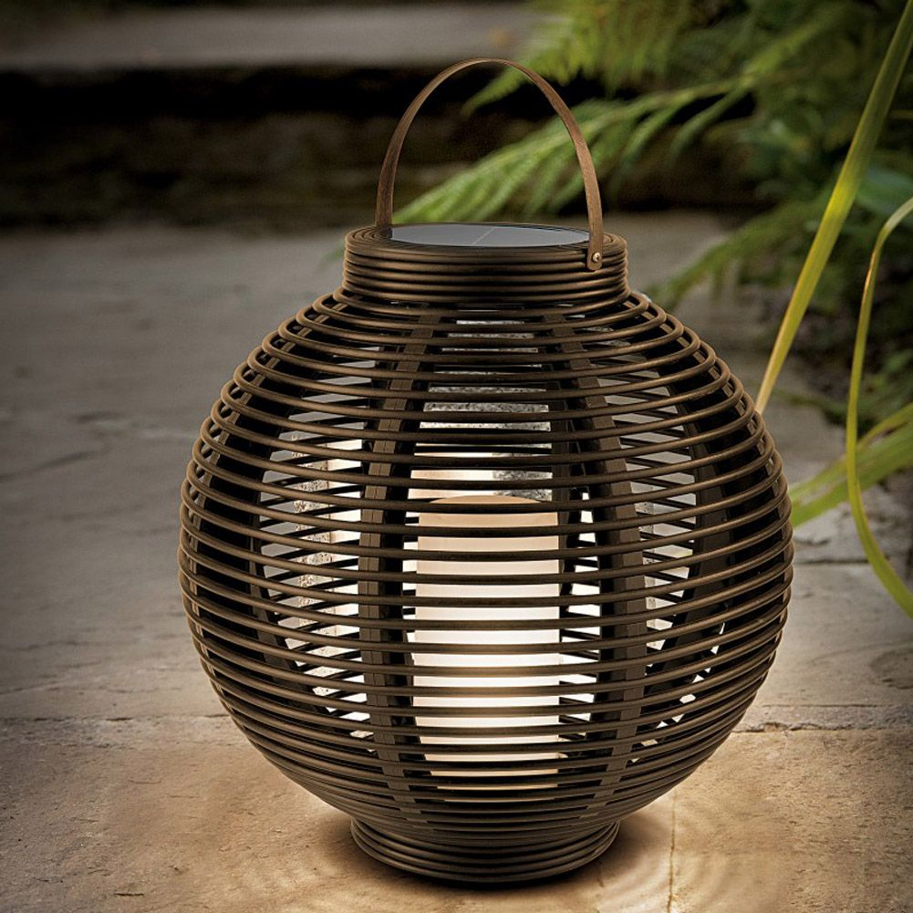 Round rattan lantern unique home living enchanted nights