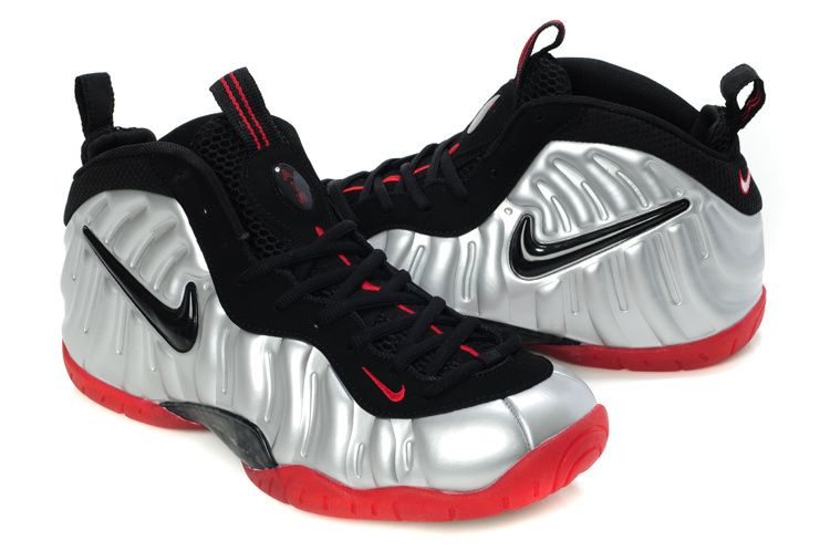 f5782b9828e Nike Air Foamposite Pro – Metallic Platinum Black-Bright Crimson ...
