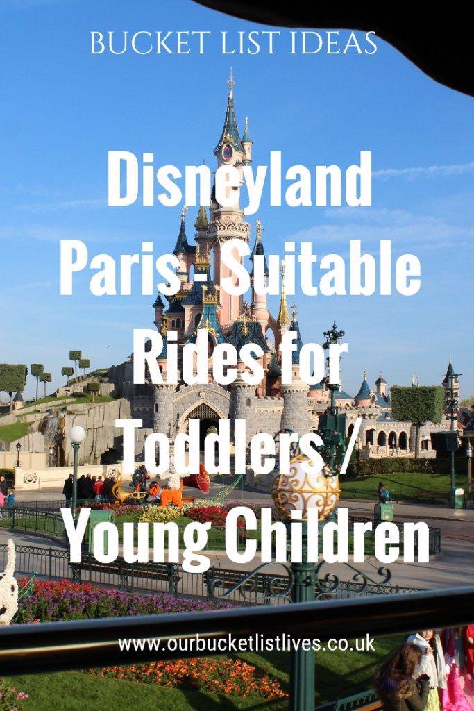 Disneyland Paris - Full list of rides that are suitable for toddlers / younger children. Including Disney Studios