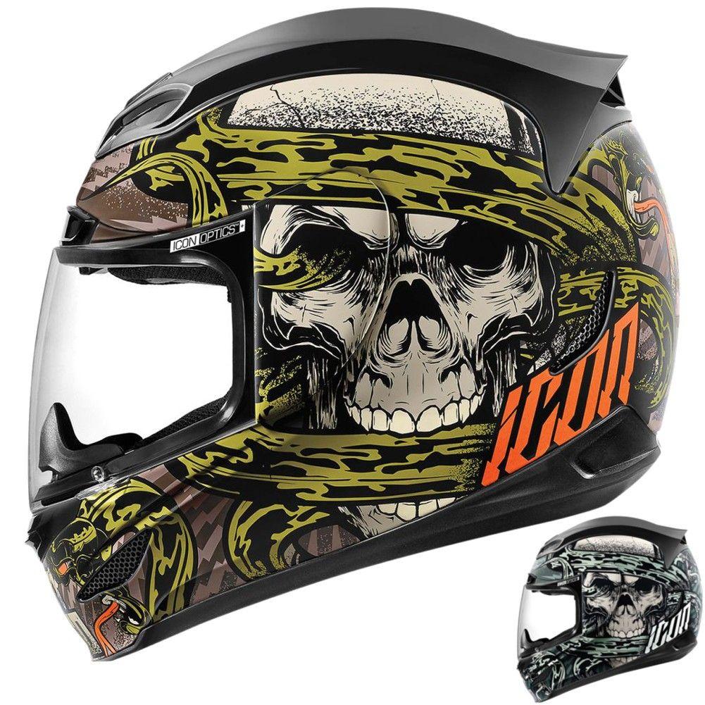 2015 Icon Mens Airmada Vitriol Motorcycle Street Bike Helmet