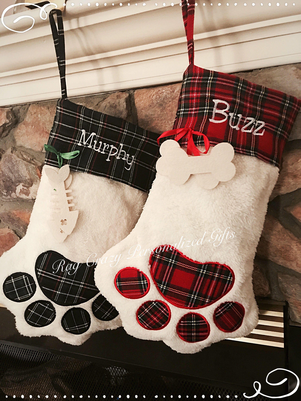 Pet Dog Christmas Stockings Cat Stocking Whimsical