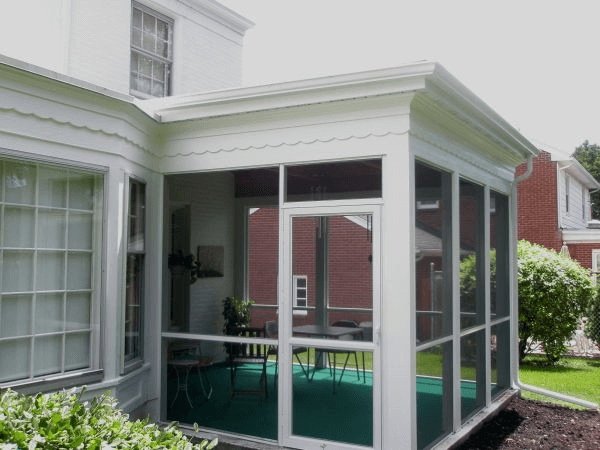 Flat Roof Screened Porch Design Modern Outdoor Patio Screened