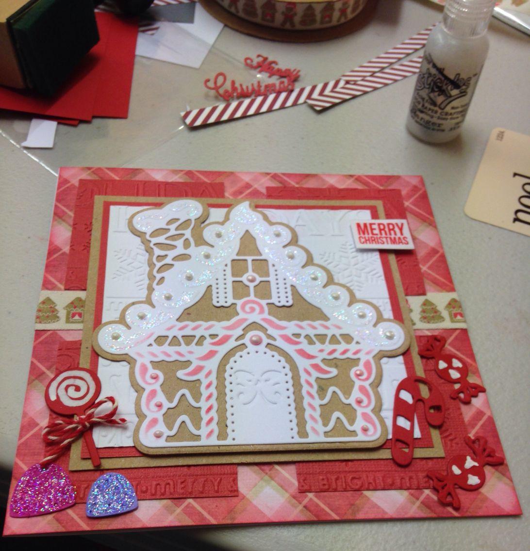 Scrapbook ideas christmas card - Christmas Card Made Using Spellbinders Gingerbread House Die Gingerbread Houseschristmas Scrapbookchristmas Ideaschristmas