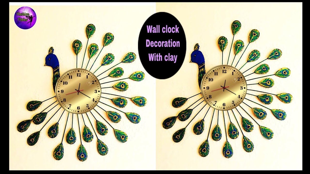 Wall Clock Decoration Ideas Beautiful Peacock Wall Hanging Best Out Of Waste Fashion Pixies Youtube Diy Clock Wall Clock Wall Art Clock Wall Decor