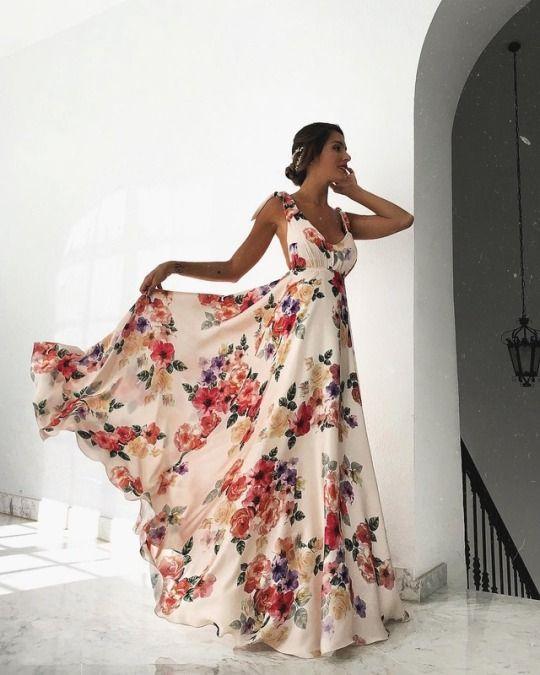 Pinkwinged Floral Print Maxi Dress Floral Maxi Dress Backless Maxi Dresses