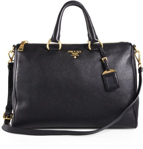 Prada Vitello Daino Boston Bag in Black (nero-black)   Lyst      All ... a9e96bde07
