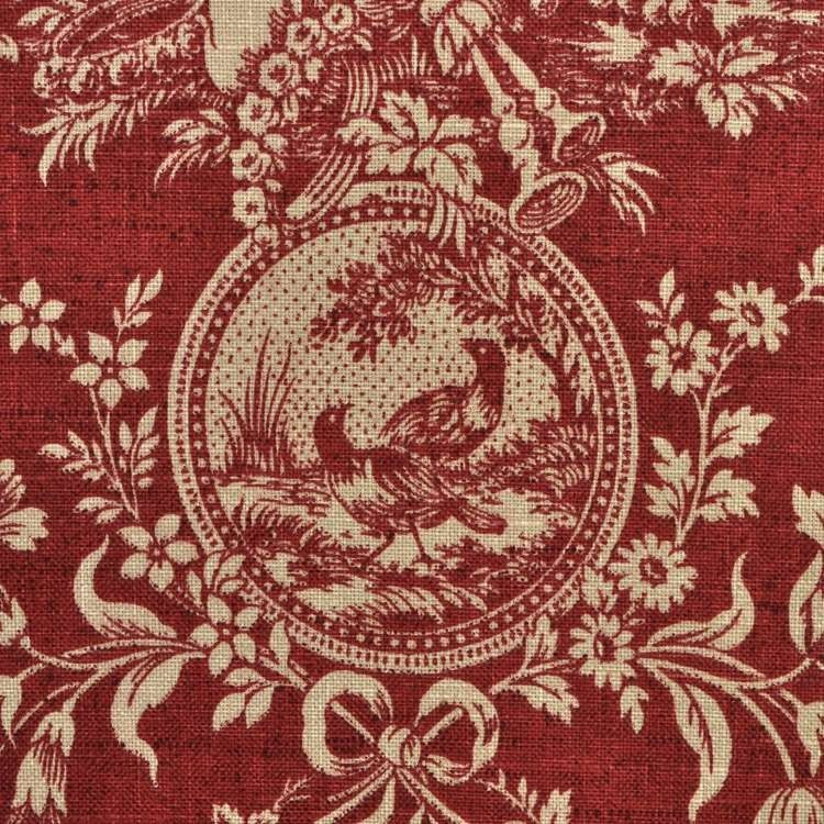 Waverly Country House Toile Red Fabric French Country Curtains French Country Decorating Red Toile