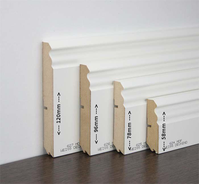 Sockelleisten Weiß Holz joka sockelleiste berliner profil mdf leiste weiß foliert