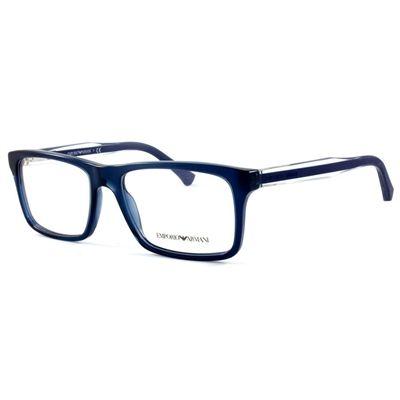 Óculos de Grau Emporio Armani Acetato Azul Marinho - EA30025072 ... 0381ba8412